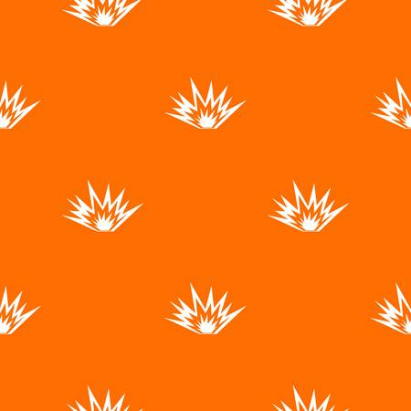 Nuclear explosion pattern repeat seamless in orange color for any design. Vector geometric illustration Illustration