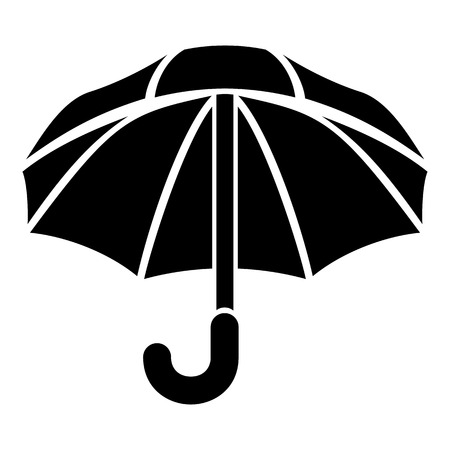 Nylon umbrella icon. Simple illustration of nylon umbrella vector icon for web