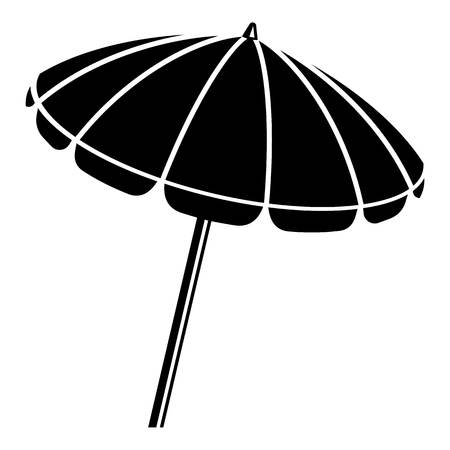 Beach umbrella icon. Simple illustration of beach umbrella vector icon for web Illustration