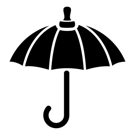 日傘のアイコン。Web の日傘ベクトル アイコンのシンプルなイラスト