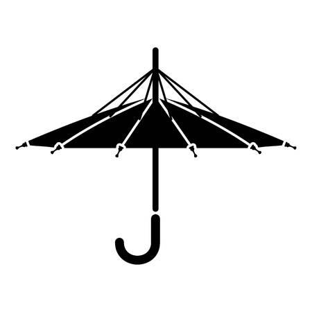 インサイド アウトの傘のアイコン。Web のインサイド アウト傘ベクトル アイコンのシンプルなイラスト