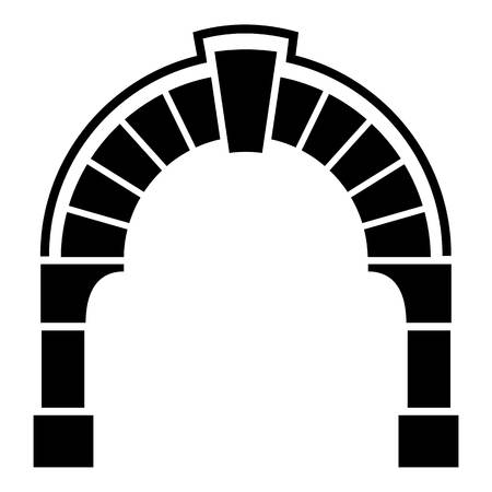 Round gate icon. Simple illustration of round gate vector icon for web 矢量图像