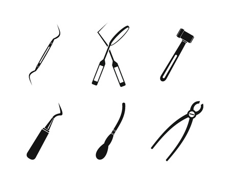 saw blade: Surgery instrument icon set. Simple set of surgery instrument vector icons for web design isolated on white background Illustration