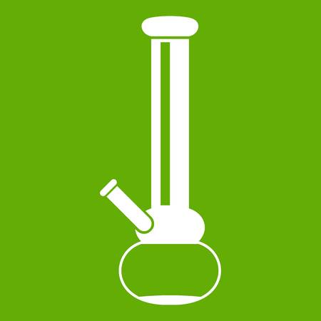 Bong for smoking marijuana icon green