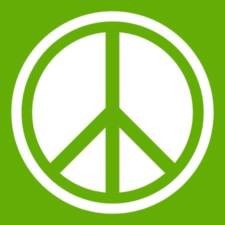 Sign hippie peace icon green
