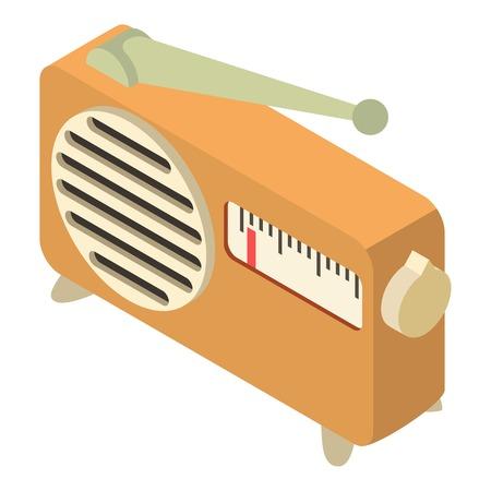 fm: Radio icon, isometric 3d style Illustration