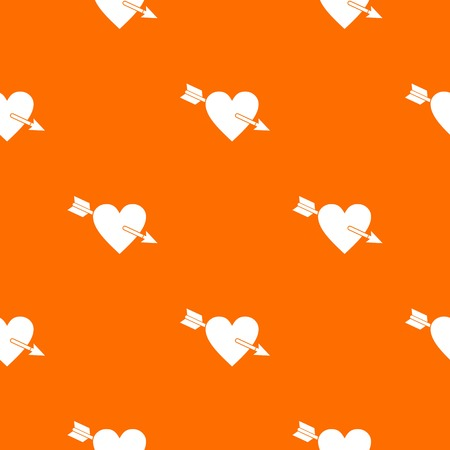Heart with arrow pattern seamless