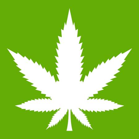Cannabis leaf icon green