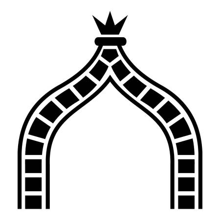 Ancient arch icon, simple style Illustration