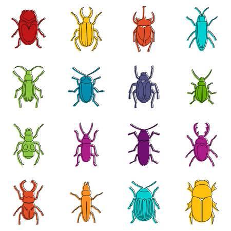 Bugs icônes doodle set Banque d'images - 88894816
