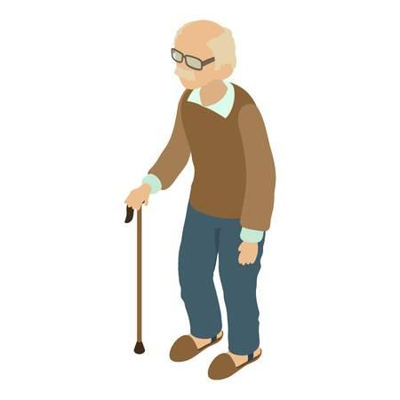 granny and grandad: Grandad icon, isometric 3d style