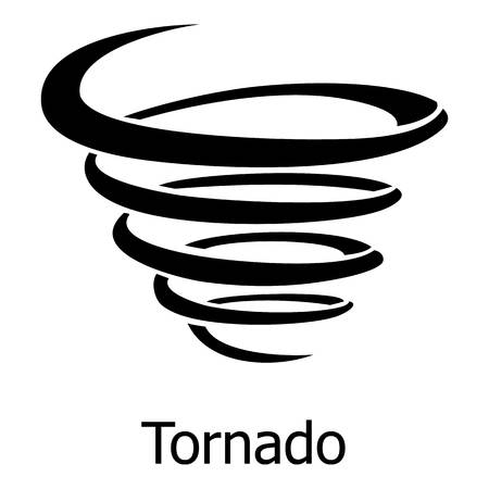 Tornado icon. Simple illustration of tornado vector icon for web