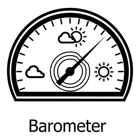 Barometer icon. Simple illustration of barometer vector icon for web