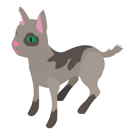 Street cat icon. Isometric illustration of street cat vector icon for web Illustration