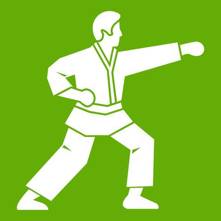 Aikido fighter icon green