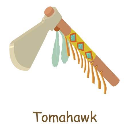 Tomahawk icon. Isometric illustration of tomahawk vector icon for web Illustration