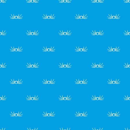 Japanese spider crab pattern repeat seamless in blue color for any design. Vector geometric illustration