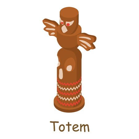 Totem icon. Isometric illustration of totem vector icon for web