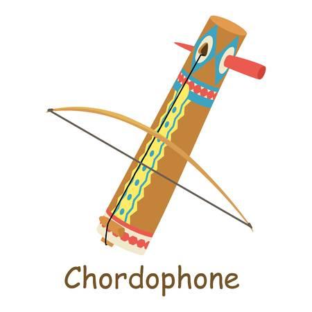 Chordophone icon. Isometric illustration of chordophone vector icon for web