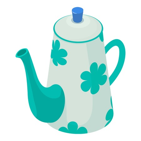 Kettle decorative icon. Isometric illustration of kettle decorative vector icon for web Illustration