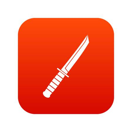 Little knife icon digital red for any design isolated on white vector illustration