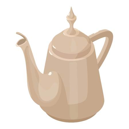 chinese food container: Kettle vintage icon. Isometric illustration of kettle vintage vector icon for web Illustration