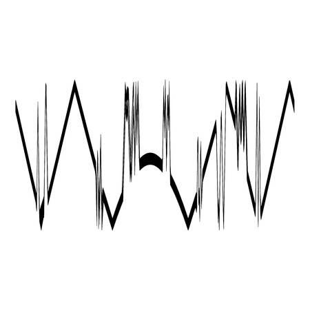Audio equalizer design icon, simple black style Illustration