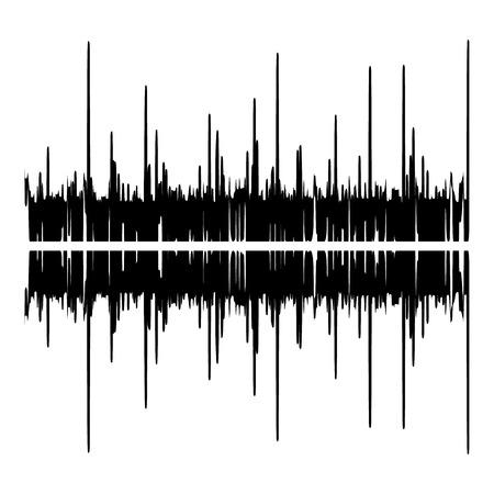 Audio equalizer illustration icon, simple black style