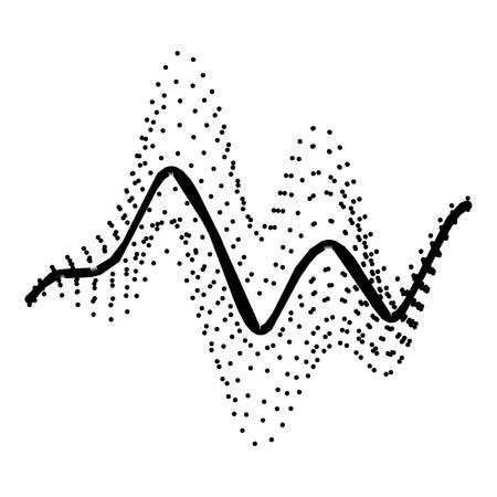 Audio equalizer electronic icon, simple black style