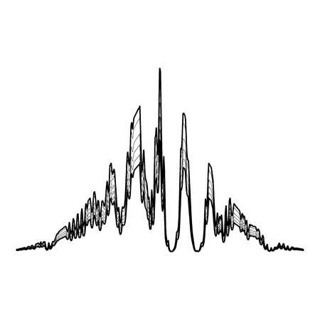 Audio equalizer beat icon, simple black style
