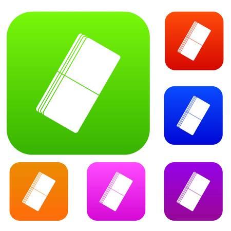 Eraser set color collection