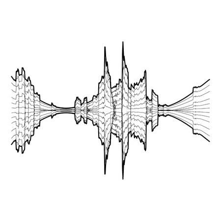 Audio equalizer meter icon. Simple illustration of audio equalizer meter vector icon for web Illustration