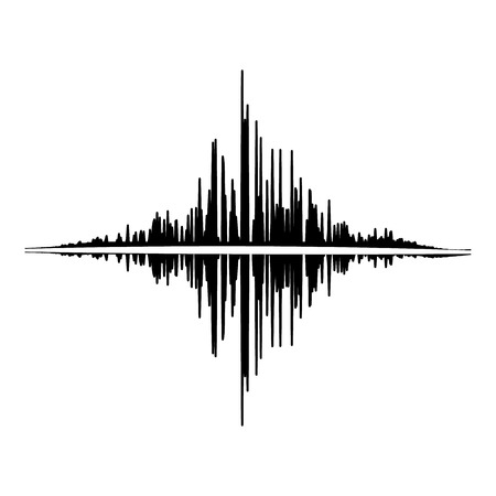 Audio equalizer player icon, simple black style