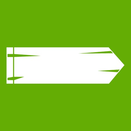 Thick arrow icon green Illustration