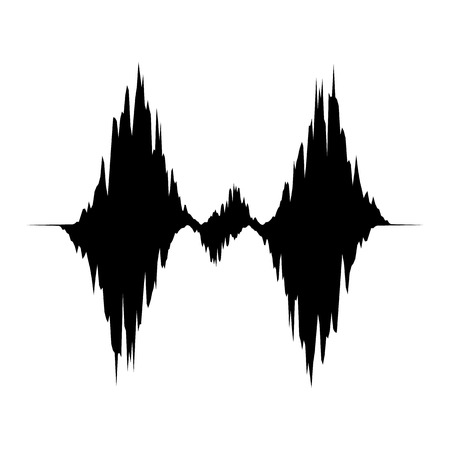 Equalizer waveform icon, simple black style