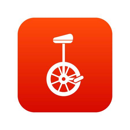 Unicycle icon digital red