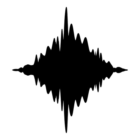 Equalizer electronic icon, simple black style