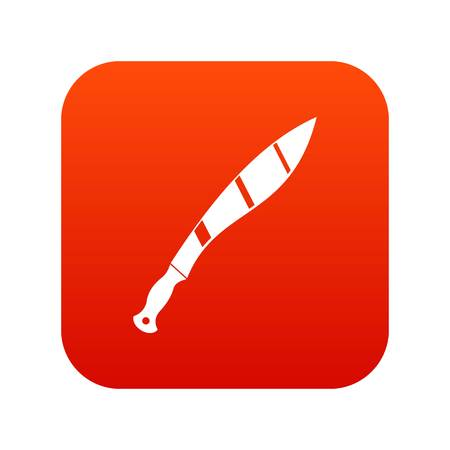 Crooked knife icon digital red