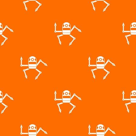 Spider robot pattern seamless