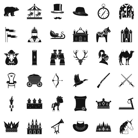 Horsemanship icons set. Simple style of 36 horsemanship vector icons for web isolated on white background