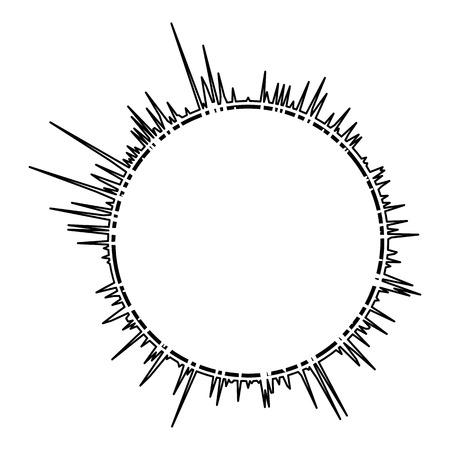 Audio equalizer line icon. Simple illustration of audio equalizer line vector icon for web