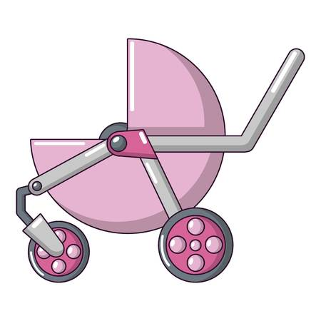 Baby carriage modern icon in cartoon style