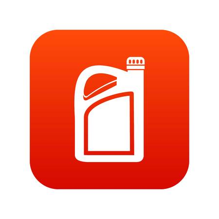 Jerrycan icon digital red for any design isolated on white vector illustration
