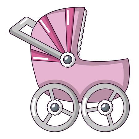 Baby carriage big icon. Cartoon illustration of baby carriage big vector icon for web