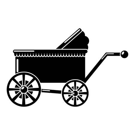 Baby carriage ancient icon. Simple illustration of baby carriage ancient vector icon for web