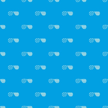 American glasses pattern repeat seamless in blue color for any design. Vector geometric illustration Illustration