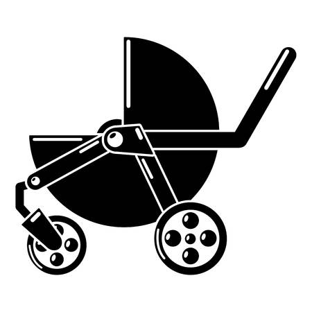 Baby carriage modern icon. Simple illustration of baby carriage modern vector icon for web