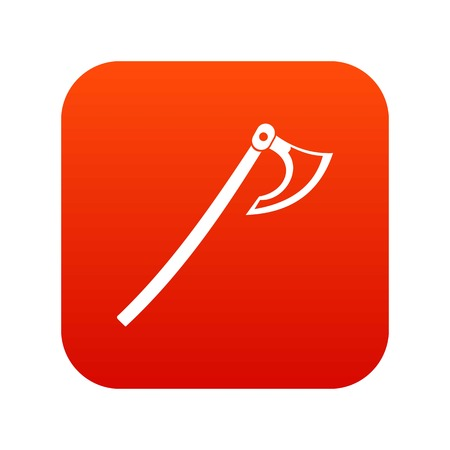 Axe icon digital red