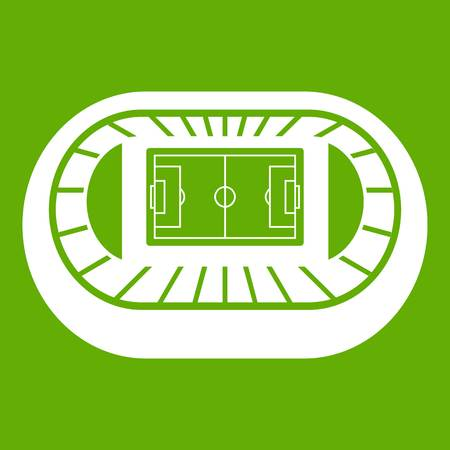 Stadium top view icon green