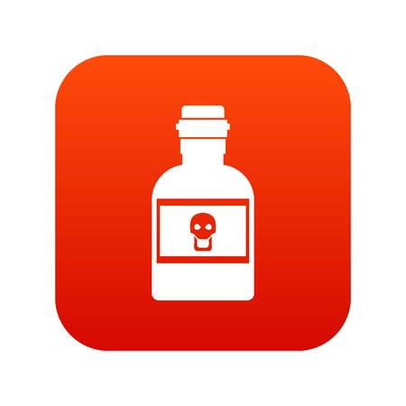 Poison bottle icon digital red
